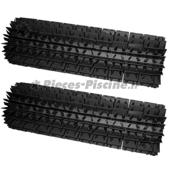Brosses lamelles noires zodiac sweepy free lot de 2 for Robot piscine sweepy free zodiac