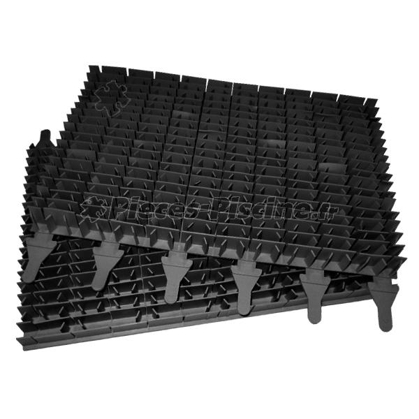 Brosses lamelles noires zodiac sweepy m3 lot de 2 for Piece robot piscine