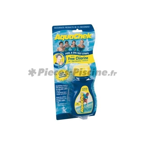 Aquachek chlore pieces piscine for Test sel piscine