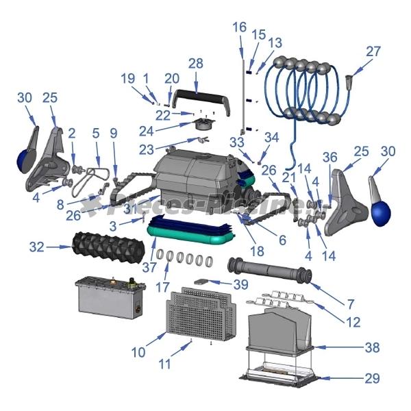 grille protection moteur zodiac cybernaut pieces piscine. Black Bedroom Furniture Sets. Home Design Ideas