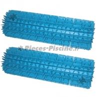 Brosses lamelles turquoises INDIGO (lot de 2)