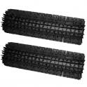 Brosses lamelles noires SWEEPY FREE (lot de 2)