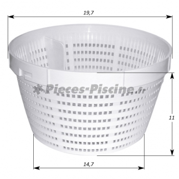 Panier skimmer weltico pieces piscine for Pieces pour skimmer piscine