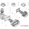 Couvercle carré + cadre carré skimmer ASTRAL Standard