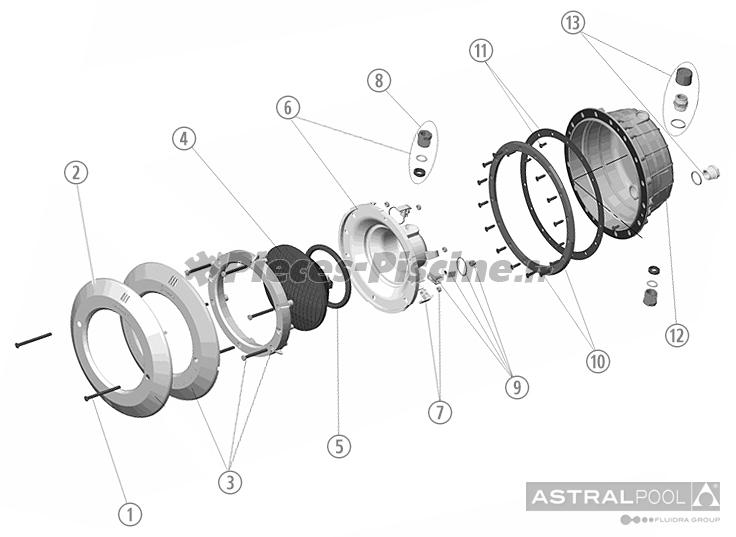 Pièces détachées pour projecteur ASTRAL Standard