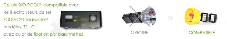 Cellules ZODIAC Clearwater TS CL (baïonnettes) compatibles