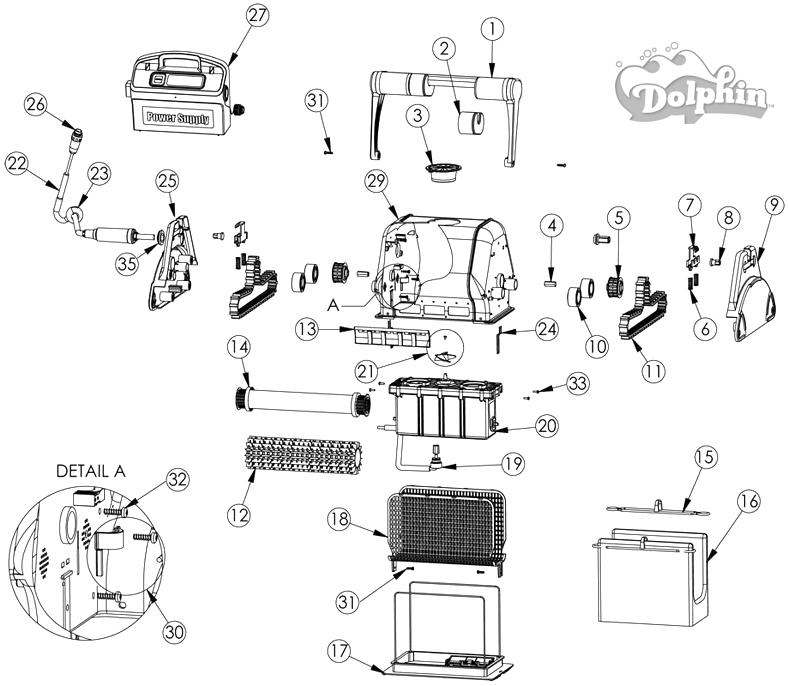 Pièces détachées robot DOLPHIN_2001