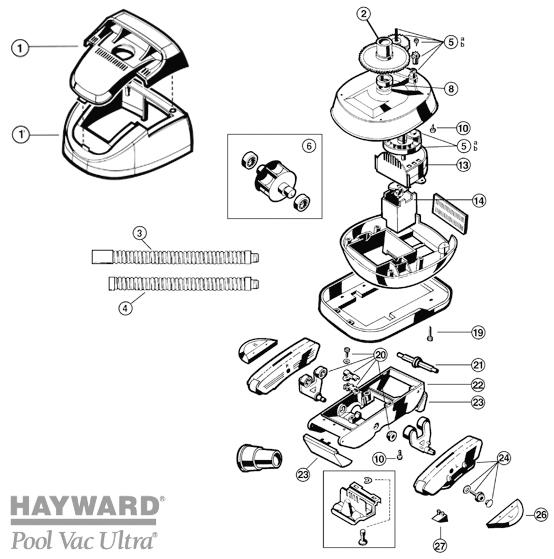 Pièces détachées robot HAYWARD Pollvac Ultra