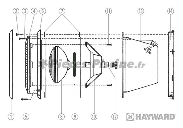 Pièces détachées projecteur HAYWARD SP512