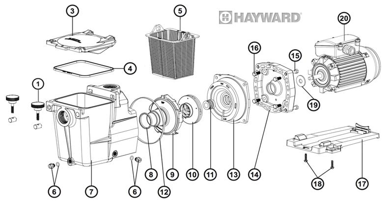 Pièces détachées pompe HAYWARD Super Pump