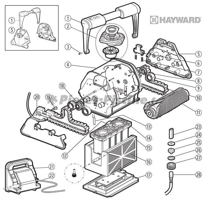 Pièces détachées robot HAYWARD TigerShark