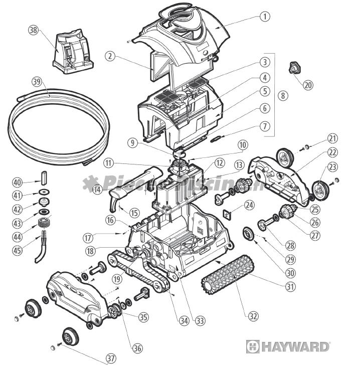 Pièces détachées robot HAYWARD eVac / SharkVac