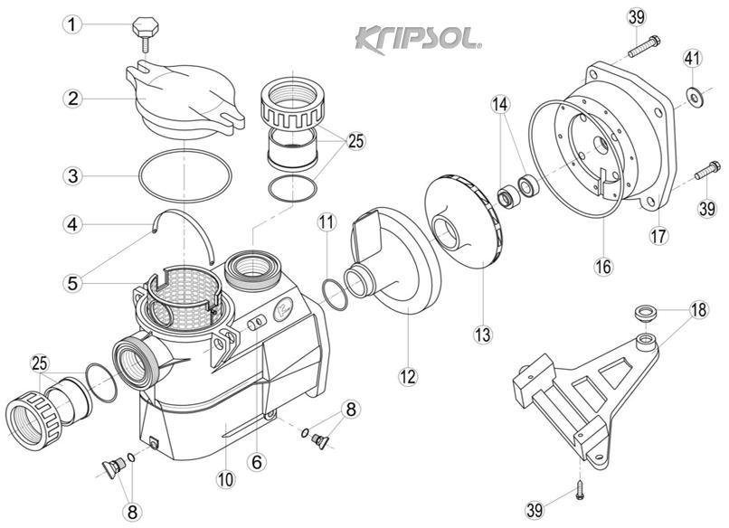 Pièces détachées pompe KRIPSOL Delphino KS / AEP