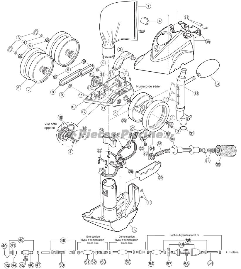 Pièces détachées robot POLARIS 380