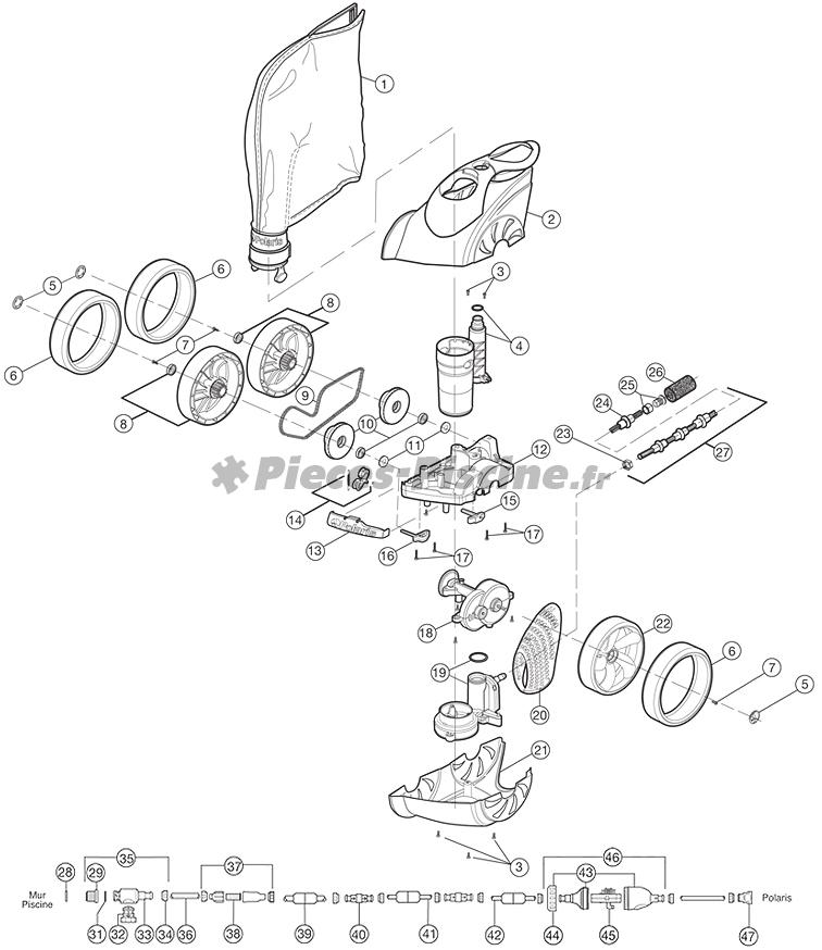 Pièces détachées robot POLARIS 3900 Sport