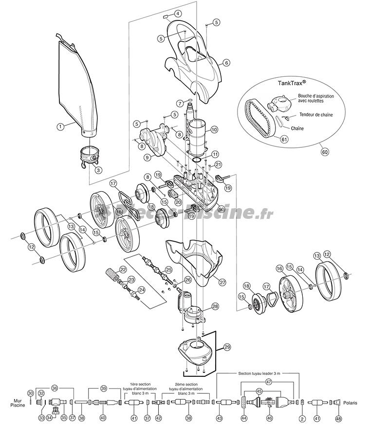 Pièces détachées robot POLARIS 480 Pro