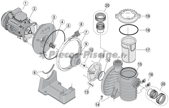 Pièces détachées pompe STA-RITE 5P4R / 5P6R
