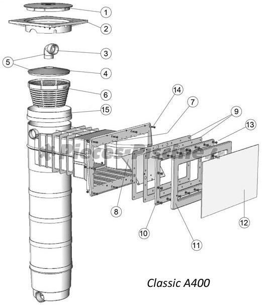 Pièces détachées skimmer WELTICO Classic A400