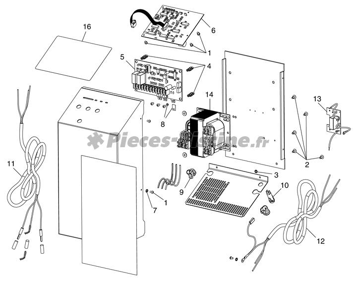 Pièces détachées coffret électrolyseur ZODIAC CLEARWATER LM2