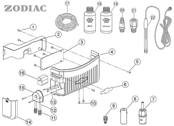 Pièces détachées module électrolyseur ZODIAC TRi Pro / pH
