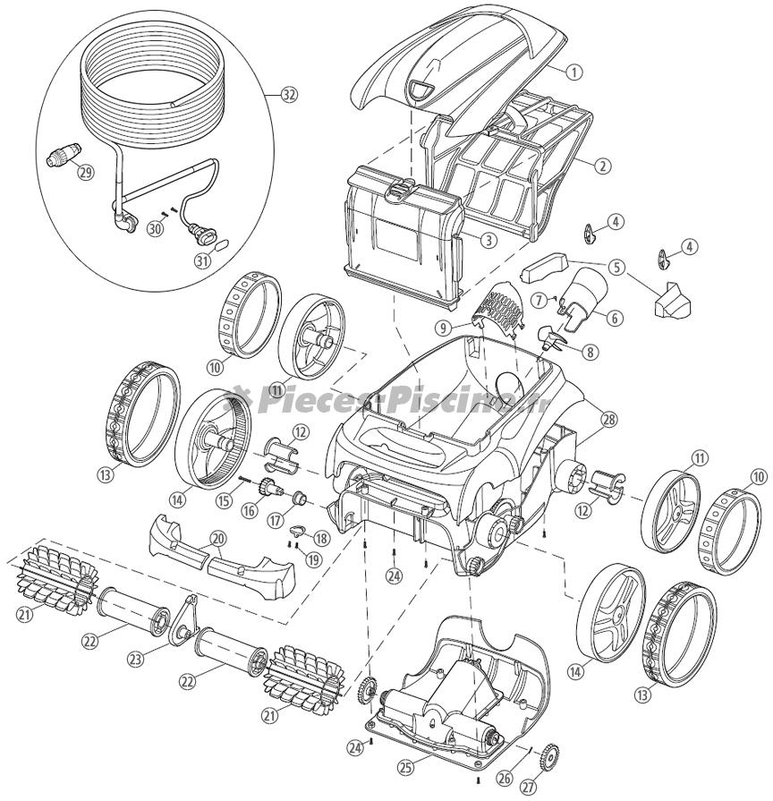 Pièces détachées robot ZODIAC Vortex 3