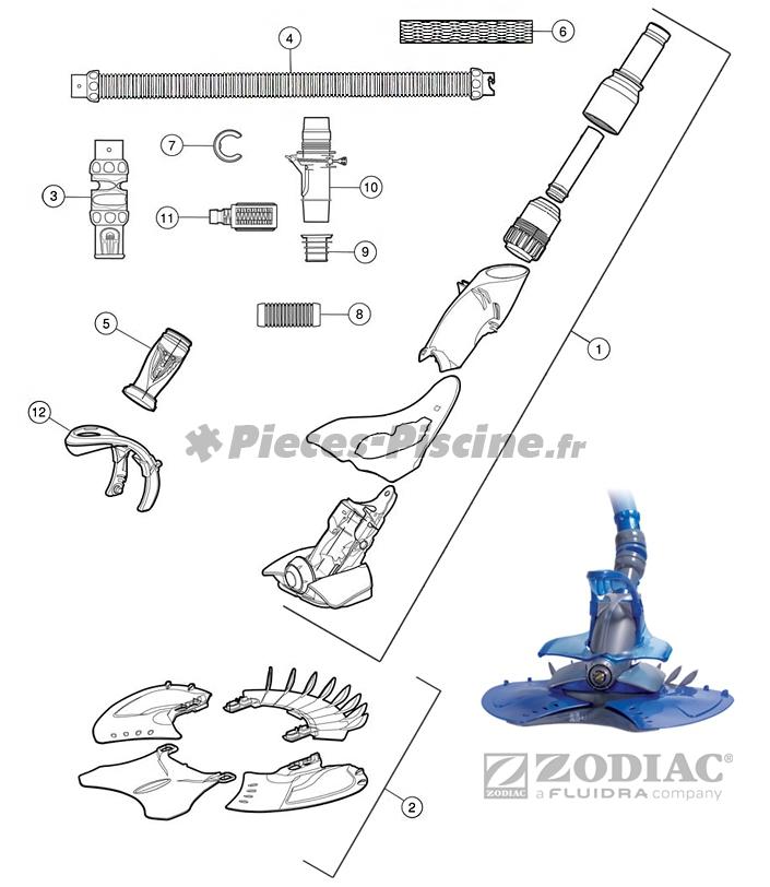 Pièces détachées pour robot ZODIAC X7 Quattro